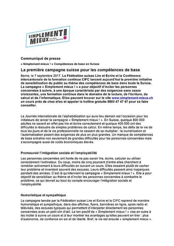 Communiqué de presse PDF