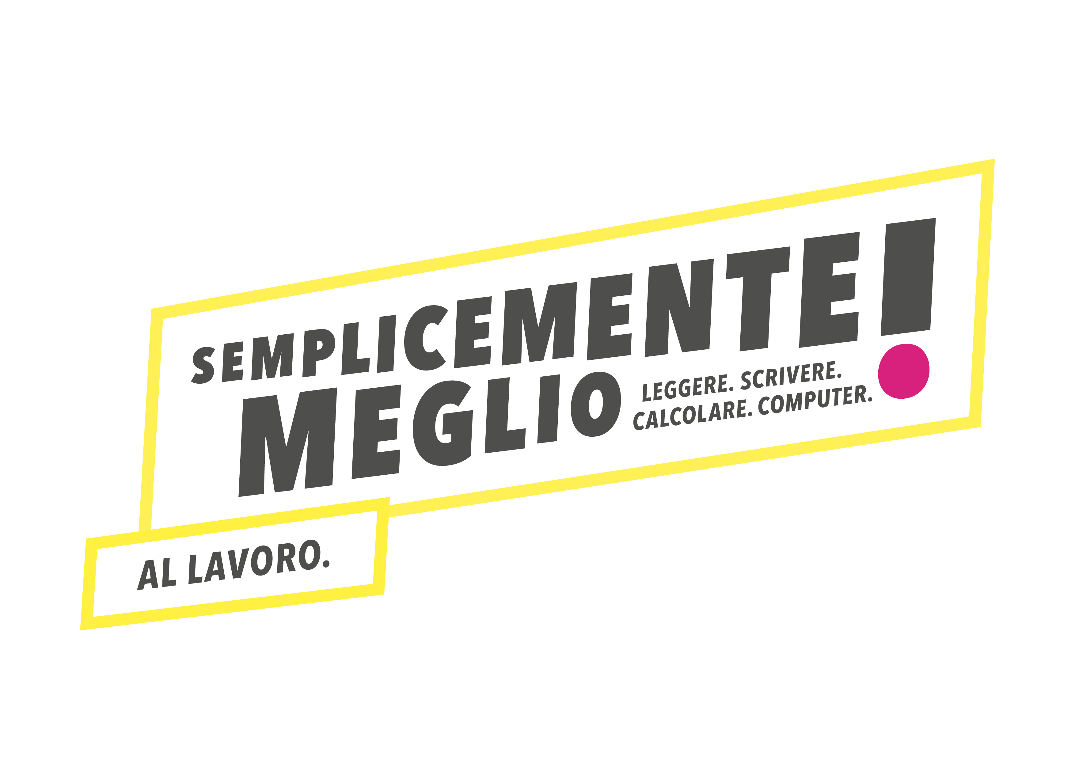 Logo competenze di base giallo